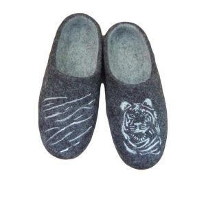 "Home mens slippers ""White Tiger"""