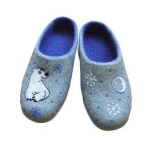 """Home slippers """"White bear"""""""