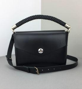 Black leather mini bag