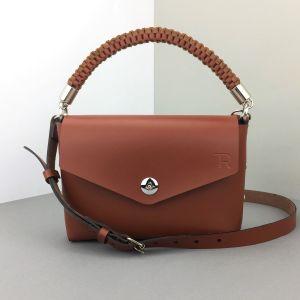 Brown leather mini bag