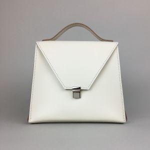 Vanilla leather crossbody bag