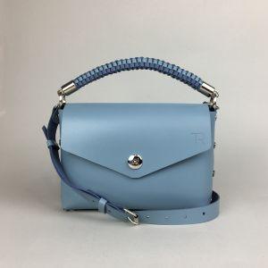 Pastel blue leather mini bag