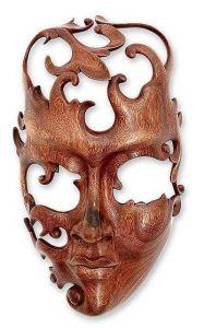 Indonesia wood mask