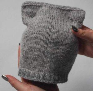 "Infant crochet hat""With ears"""