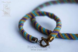 "Jute set of beads ""Carousel"""