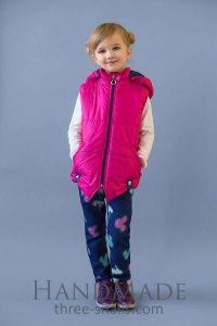 Kid girl hooded vest