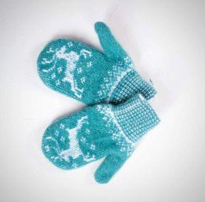 "Kids mittens""Winter pattern"""