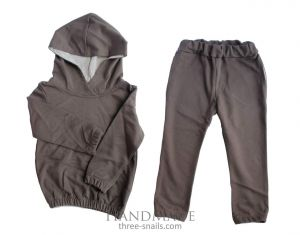 """Kids sports clothes set """"Brown trend"""""""