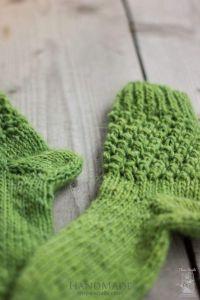 """Knitted handmade socks """"Green"""""""