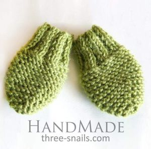 """Knitted mittens for baby """"Forest"""""""