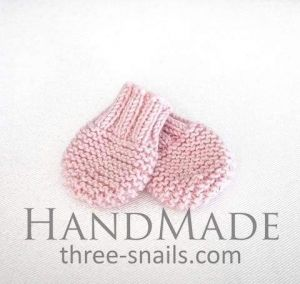 """Knitted mittens for baby """"Winter joy"""""""