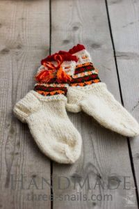 """Knitted socks wool """"Cheerful rest"""""""