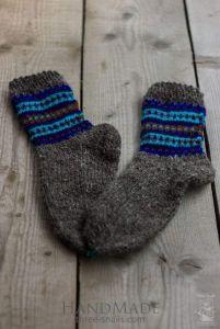 """Knitted wool socks """"Winter sky"""""""