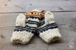 "Knitted woolen mittens ""Eco winter"""