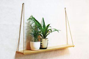 Large hanging shelf natural
