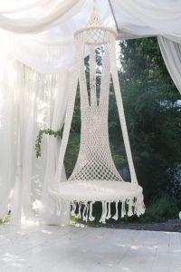 Large macrame swinging chair