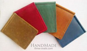 """Leather money clip """"Out and Outer"""""""