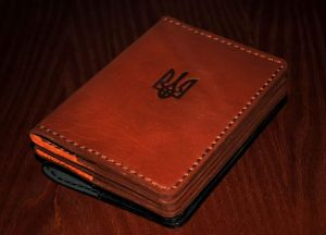 """Leather passport cover """"Brown"""""""