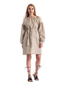 """Linen dresses for women""""Detailed embroidery"""""""