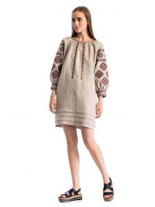 "Linen dresses ""Geometric pattern"""