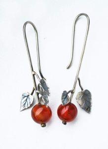 """Long earrings """"Spring berries"""""""
