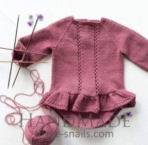 Long sleeve bodysuit for baby girls