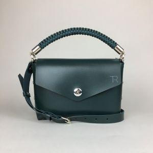 Green leather mini bag