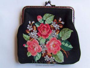 """Makeup bag """"Black&Roses"""""""