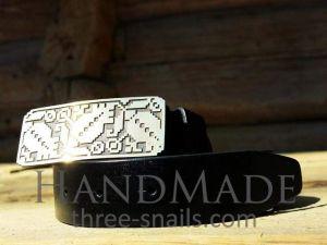 Men leather belts. «Embroidery» belt