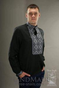 "Mens embroidered shirt ""Black Swan"""