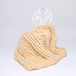 """Merino wool blanket """"Volume pattern"""""""