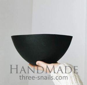 Modern large wooden bowl black