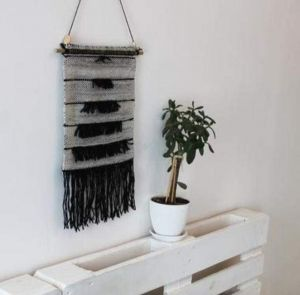 """Modern wall decor """"Stepped gray hanging"""""""