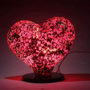 Mosaic Heart Lamp