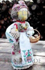Motanka-doll «Hostess with a chicken»