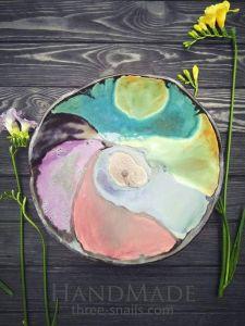 """Multicolor glazed bowl """"Colorful dream"""""""