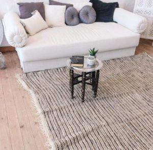 """Natural wool bedroom rug """"Gentle shades"""""""