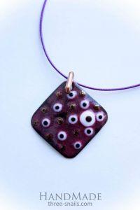 "Necklace pendants ""Lozenge"""