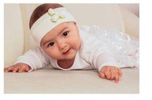 "Newborn headband ""Three roses"""