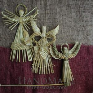 """Ornaments made of straw """"Trinity of Angels"""""""