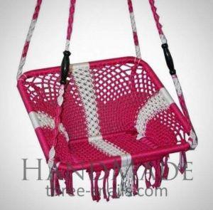 Pink chair hanging hammock