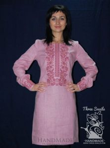 """Pink dress with embroidery """"Rose Mary"""""""