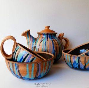 "Pottery set ""Countryside"""