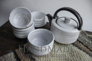 """Pottery set """"Milky rivers"""""""