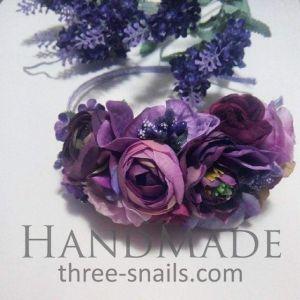 Purple hair accessories. Headband «Provence»