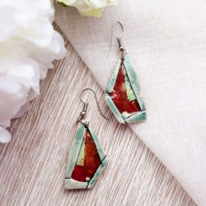 """Red earrings """"Abstraction"""""""