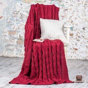 Red wool blanket