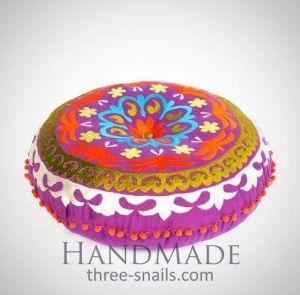 Round pouf handmade