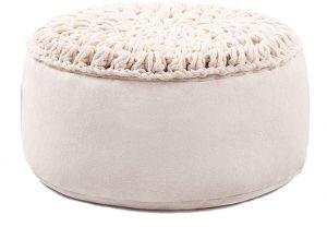 Round pouf seating