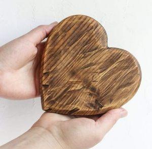 Rustic coaster heart